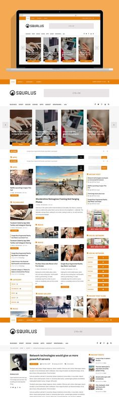 Squalus - News/Magz HTML5 Template. HTML/CSS Themes. $10.00