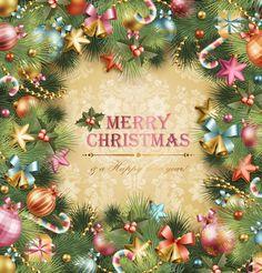 Christmas Wreath Design vector free