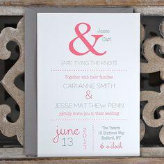 Wedding Invitations / Wedding Invitation   by deanpennandpaper, $2.50