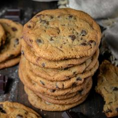 Palm trees: The best recipe - HQ Recipes Biscuit Cookies, Yummy Cookies, Yummy Treats, Crispy Chocolate Chip Cookies, Fun Desserts, Cookie Recipes, Bakery, Good Food, Fudge