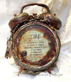 Altered Rustic Clock