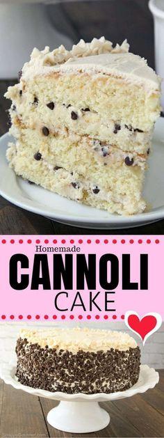 Cannoli Cake #recipes #food #easyrecipe #healthy #easy #cake #cookies #dessert #vegan #ideas #comfortfood #dinnerrecipes #homemade #easter #brunch