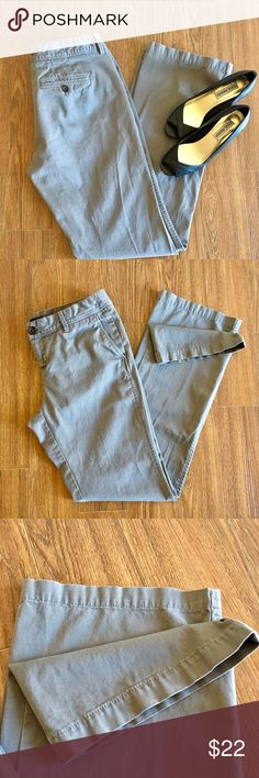 Banana Republic Martin Fit Grey Pants. Size 6 Banana Republic Martin Fit pants (strait lag). Color: light gray, Size: 6. Inseam: 32in. Lightly worn but in great condition and tons of useful life left. From a smoke and pet free home. Offers welcome. Banana Republic Pants Straight Leg