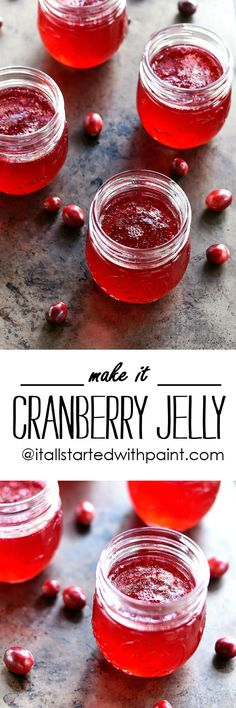 Cranberry Jelly Recipe – It All Started With Paint Cranberry Jelly Recipe – Cranberry Recipe Ideas Cranberry Jelly Recipes, Cranberry Muffins, Mixed Fruit Jelly Recipe, Cranberry Sauce, Smoothies, Homemade Jelly, Jam And Jelly, Nutrition, Christmas Baking