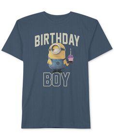 Despicable Me Little Boys' or Toddler Boys' Birthday Boy Minion T-Shirt