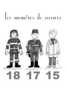 Affiche : les numéros de secours