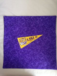 "Louisana State ""Tigers"" 16""X16"" Pillow Case/Cover by SportzNutty on Etsy"