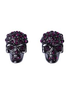 You so need these skull earrings!