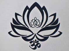 LOTUS FLOWER DECAL WITH OHM SYMBOL