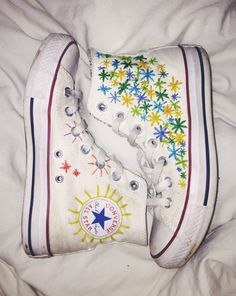 Embroidered shoe. Made to order! Price is for brand new shoe AND embroidery. I can embroider anything on your shoes, send me a message when ordering describing what you want on your shoes.  Pictured: White  Price Explanation Shoes cost $60 Embroidery cost $25