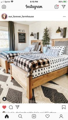 Repost I these beds so much Im thinking of building a queen for the master! Home Bedroom, Kids Bedroom, Bedroom Decor, Plywood Furniture, Kid Furniture, Bedroom Furniture, Furniture Design, Plywood Floors, Farmhouse Furniture
