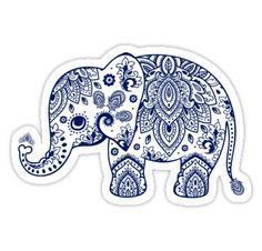 Cute and elegant vintage floral paisley lace ornate design in navy blue tones with transparent background • Also buy this artwork on stickers, apparel, phone cases, and more.