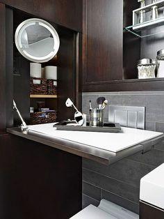 Genius Bathrooms: Built-In Hidden Storage & Surprises | Apartment Therapy