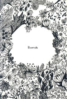 A very pretty idea for a florist shop and business cards. I really love the simple black and white colours surrounded with lovely delicate illustrations. Perfect.