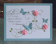 Inspirational Greeting Card, Die Cut Butterflies