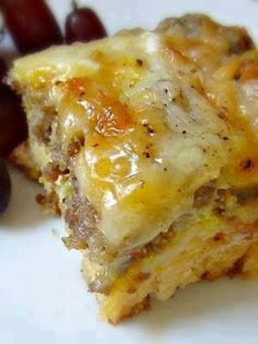 Sausage, egg and biscuits casserole ~ Recipe of today