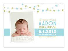 $8 Aaron Photographer Birth Announcement Template