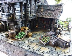 Converted Building by Simone Pohlenz Medieval Town, Medieval Fantasy, Painting Competition, Model Homes, Scale Models, World, Gallery, Minis, Tabletop