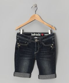 Take a look at this Tad Blue Wash Flap-Pocket Bermuda Shorts by Hydraulic on #zulily today!