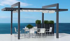 Wow!  Nice contemporary pergola.