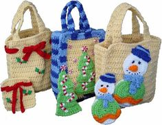 Picture of Christmas Gift Bags Set 1 Crochet Pattern