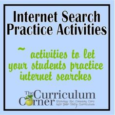 """Helping Your Students Complete Internet Research - important skill to have for today's students. Maybe could make a poster """"smart searching tips"""""""