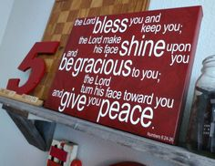 The Lord bless you and keep you Numbers 62426 by kisstheskyshop, $50.00