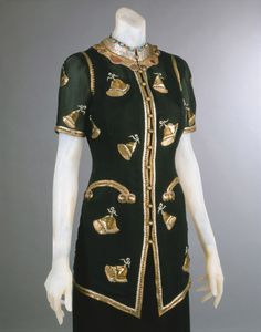 Woman's Evening Jacket Made in Paris, France, Europe Fall 1939 Designed by Elsa Schiaparelli