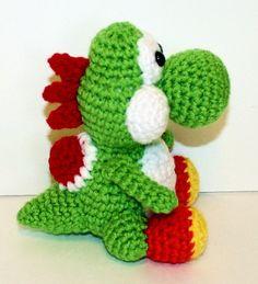 yoshi crochet pattern, nintendo, super mario crochet pattern