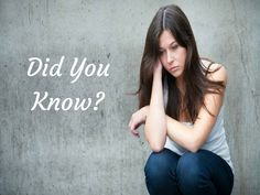 Did you Know? Women are more likely to be diagnosed with #depression than men.