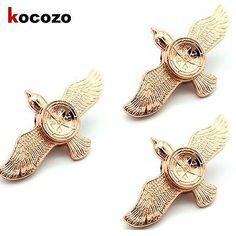 Bird-Spinner-Pattern-Gold-Compass-Hand-Spinner-Metal-Fidget-Spinner-for-Hunters