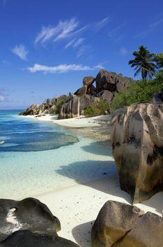 Plage de Anse source d'argent Seychelles