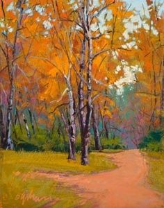 SOLITUDE by Susan Ogilvie Pastel ~ 14 x 11 #tree #landscape #art