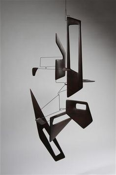 Mobile, balsa wood and lacquered steel, 2012 | Derick Pobell, Germany