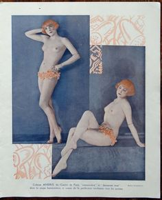 From the pages of Paris Plaisirs magazine 1931