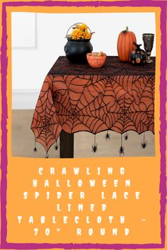 This is also a good addition to your home décor for Halloween. You can place this on your living room center table or your dining table. It features a creepy spider web with hanging spider details. It's on sale for 52% off until October 4. You can buy it from Macy's. Spooky Halloween Decorations, Halloween Spider, Lace Table Runners, October 4, Center Table, Creepy, Dining Table, Living Room, Home Decor
