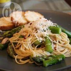 Fettuccine with Asparagus and Mushrooms @ allrecipes.com.au