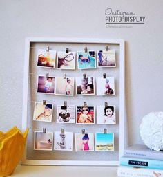 Cadeau DIY : un cadre photo spécial Polaroid©