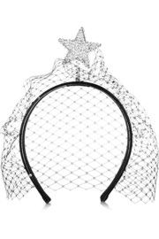 Star Of Night embellished leather headband