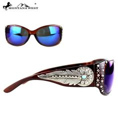 Montana West Feather Embellished Crystal Sunglasses . Starting at $18