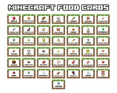 2 photo of 34 for minecraft food tent printables free