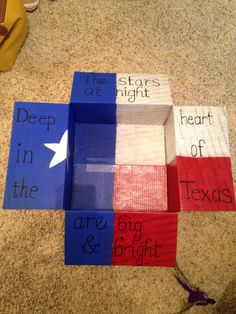 My Texas themed care package for my soldier.