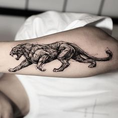 t-shirt seulement ( only ) par KevdesignBE Sketch Style Tattoos, Tattoo Sketches, Tattoo Drawings, Body Art Tattoos, Cool Tattoos, Tattoos Skull, Panther Tattoos, Black Panther Tattoo, Black Tattoo Art