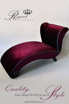 The Plum Modern Chaise 1/6 scale | Flickr - Photo Sharing!