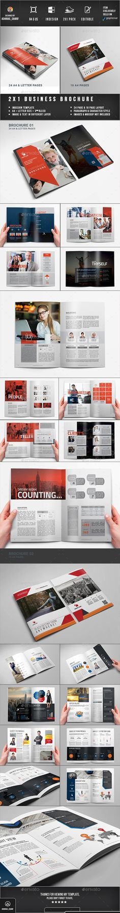 Corporate Brochure  — InDesign Template • Only available here ➝…