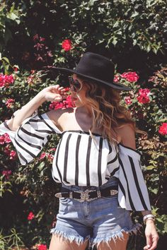 Striped Off Shoulder