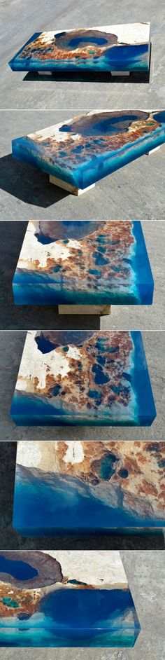 Natural Stone + Resin = LA TABLE - Design Milk