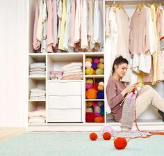 MODUL Schrank, individuell zusammenstellbar Wardrobe Rack, Closet, Furniture, Home Decor, Armoire, Decoration Home, Room Decor, Closets, Home Furnishings
