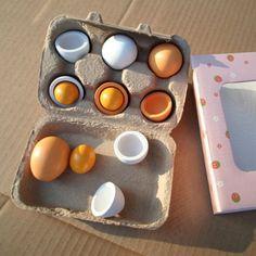 Cabrito pretend play toy set de madera huevos yema de alimento de la cocina los niños regalo de navidad kidstoys toys preescolar niños educativo juguete de madera