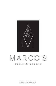 Logo design concept for restaurant startup.